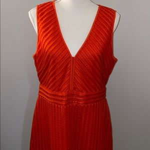 JCrew women's 12 red/orange vneck dress
